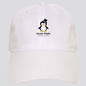Penguin with a Top Hat Baseball Cap