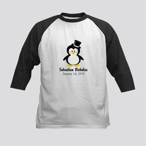 Penguin with a Top Hat Baseball Jersey
