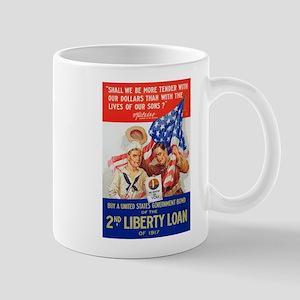 US War Bonds 2nd Liberty Loan WWI Propa Mug