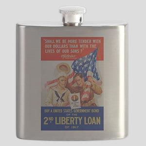 US War Bonds 2nd Liberty Loan WWI Propaganda Flask