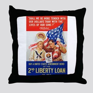 US War Bonds 2nd Liberty Loan WWI Pro Throw Pillow