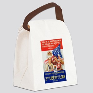 US War Bonds 2nd Liberty Loan WWI Canvas Lunch Bag