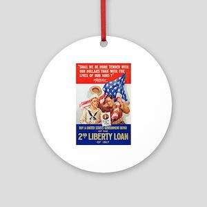 US War Bonds 2nd Liberty Loan WWI P Round Ornament