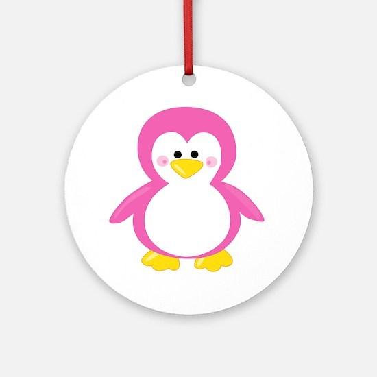 Unique Baby penguin Round Ornament