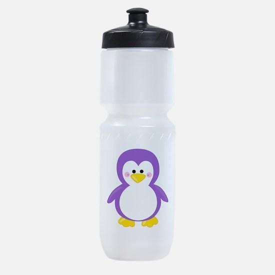 Purple Penguin Sports Bottle