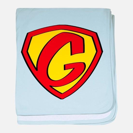 Super G Logo Costume 05 baby blanket