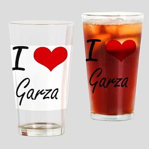 I Love Garza artistic design Drinking Glass