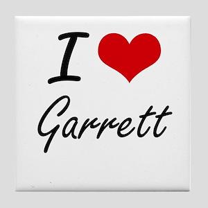 I Love Garrett artistic design Tile Coaster
