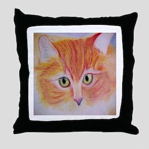 SONNY BOY Orange Tabby Cat Throw Pillow