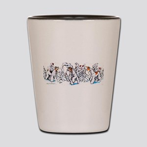 Winter Fox Terriers Shot Glass