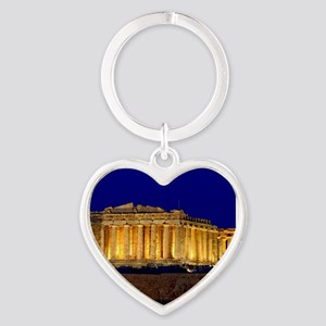 PARTHENON 2 Heart Keychain