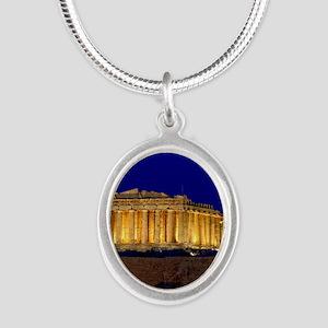 PARTHENON 2 Silver Oval Necklace