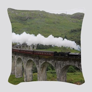 GLENFINNAN VIADUCT 1 Woven Throw Pillow