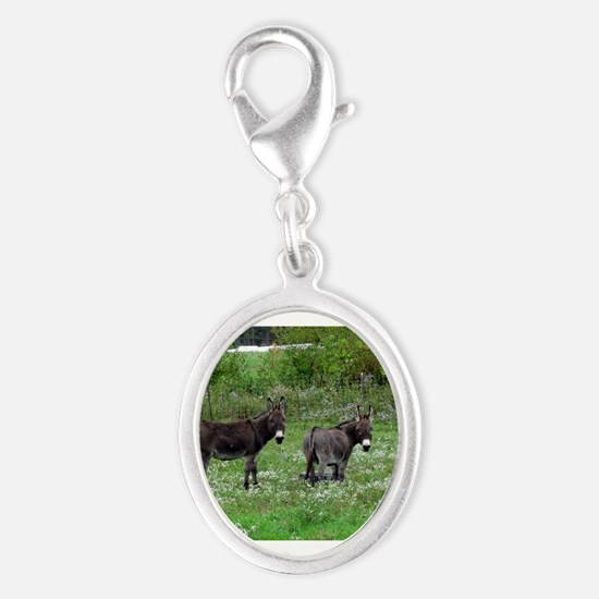 Two Miniature Donkeys Charms