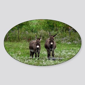 Two Miniature Donkeys (2) Sticker