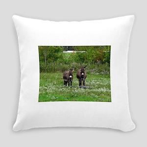 Two Miniature Donkeys (2) Everyday Pillow
