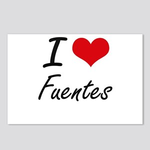 I Love Fuentes artistic d Postcards (Package of 8)