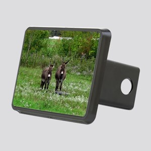 Two Miniature Donkeys (2) Rectangular Hitch Cover
