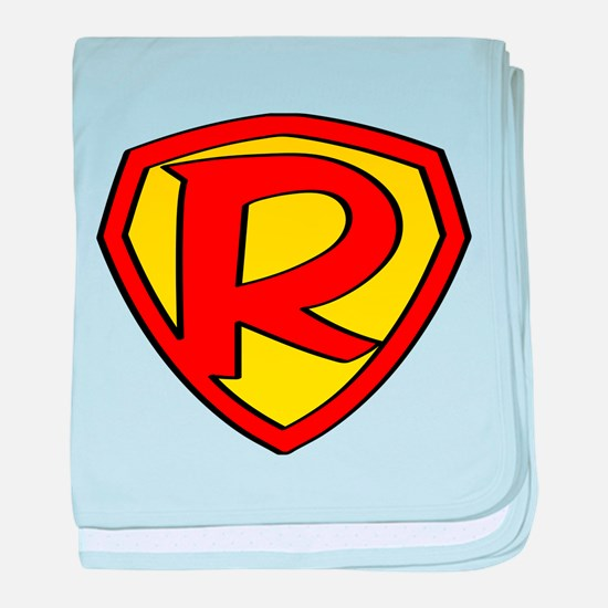 Super R Logo Costume 05 baby blanket