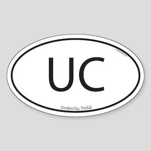 Undercity Oval Sticker