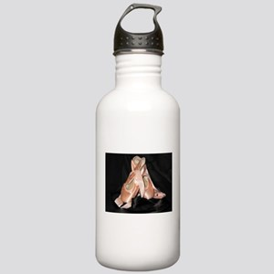 Ballet Shoes on Black Stainless Water Bottle 1.0L