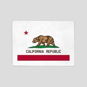CALIFORNIA BEAR 5'x7'Area Rug