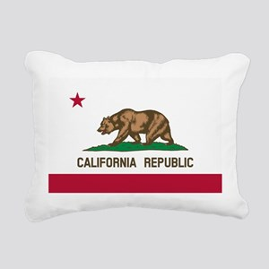 CALIFORNIA BEAR Rectangular Canvas Pillow