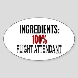 Ingredients: Flight Attendant Oval Sticker
