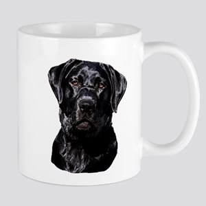 Black Labrador Retriever Head Mugs