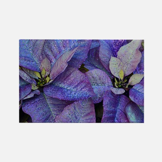 Funny Purple cactus flower petals Rectangle Magnet