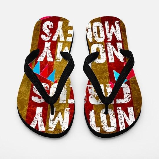 Funny Monkeys Flip Flops