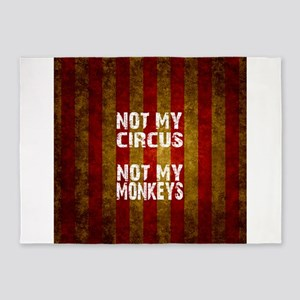 NOT MY CIRCUS NOT MY MONKEYS 5'x7'Area Rug