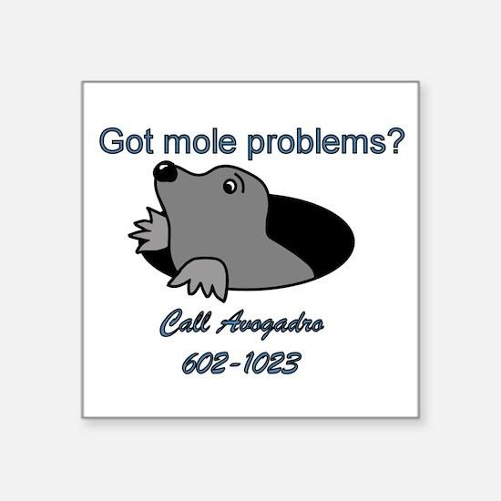 """Cute Moles Square Sticker 3"""" x 3"""""""