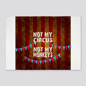 NOT MY CIRCUS NOT MY MONKEYS BIG TO 5'x7'Area Rug