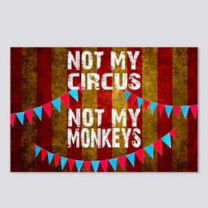 NOT MY CIRCUS NOT MY MONK Postcards (Package of 8)