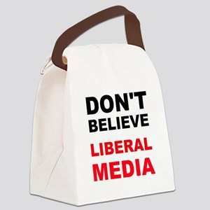 Dont Believe Liberal Media Canvas Lunch Bag