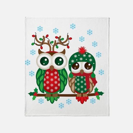 Cute Snow owl Throw Blanket