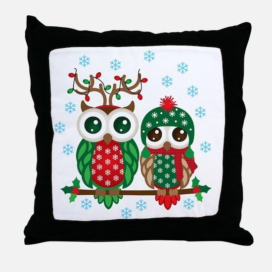 Cool White owl Throw Pillow