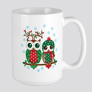 Christmas Owl Couple Mugs