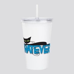 Whatever black cat Acrylic Double-wall Tumbler