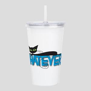 Whatever black cat Acrylic Double-wall Tumbler