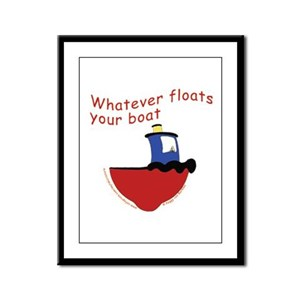 Whatever floats your boat Framed Panel Print