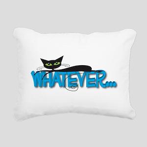 Whatever black cat Rectangular Canvas Pillow