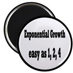 Exponential Growth 1, 2, 4 Magnet