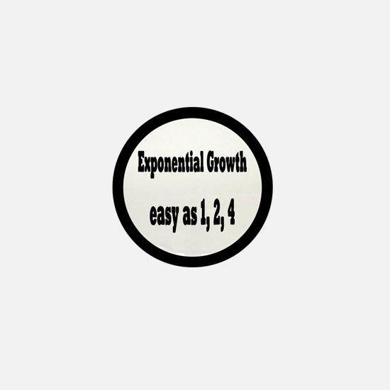 Exponential Growth 1, 2, 4 Mini Button