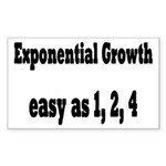 Exponential Growth 1, 2, 4 Sticker (Rectangle)