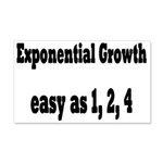 Exponential Growth 1, 2, 4 20x12 Wall Decal
