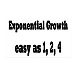 Exponential Growth 1, 2, 4 35x21 Wall Decal