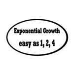 Exponential Growth 1, 2, 4 Oval Car Magnet