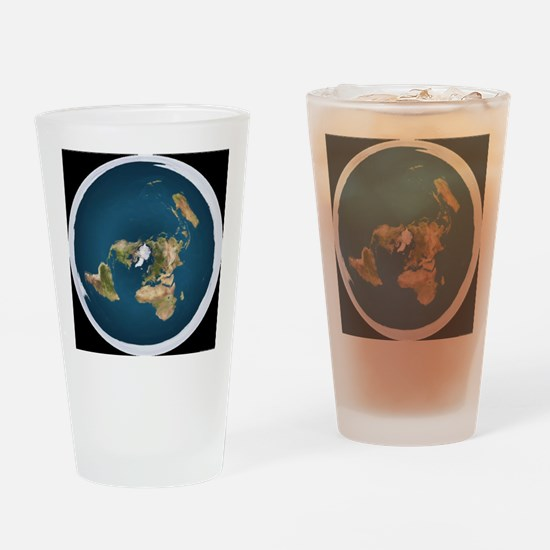 Funny Flats Drinking Glass